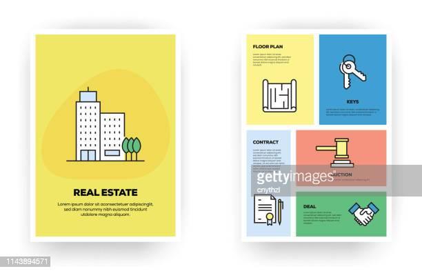 illustrations, cliparts, dessins animés et icônes de infographie liée à l'immobilier - appartement