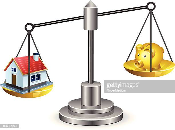 real estate scale - legal document stock illustrations, clip art, cartoons, & icons