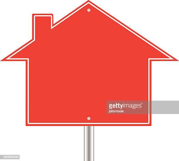 real estate sign blank - subprime loan crisis stock illustrations