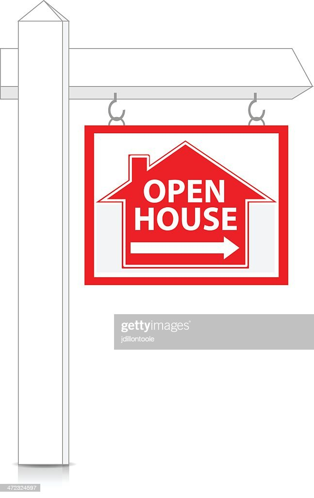 Real Estate Sign | Open House : stock illustration