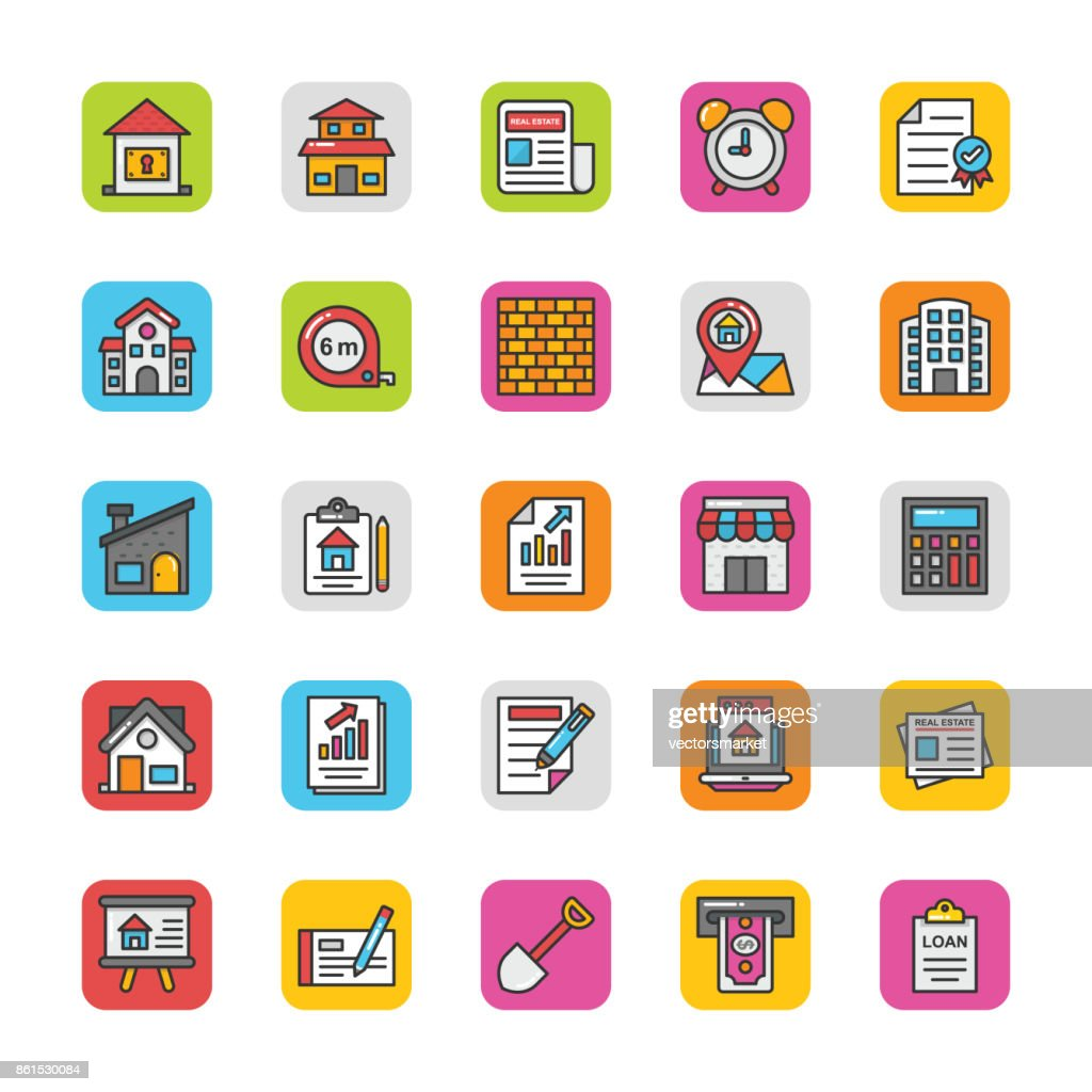 Real Estate Vector Icons Set 3