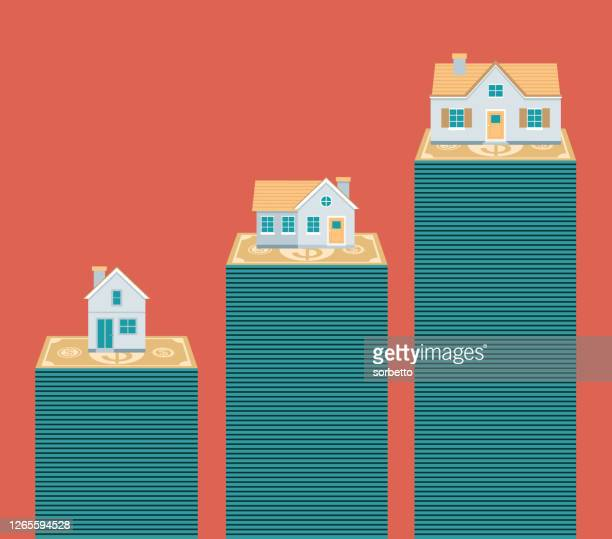 real estate - housing difficulties stock illustrations