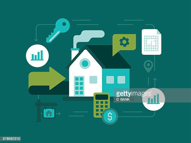 real estate - house rental stock illustrations, clip art, cartoons, & icons