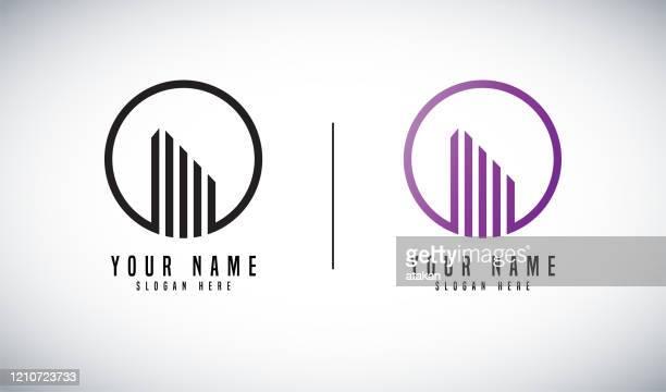 real estate vector logo design - logo stock illustrations
