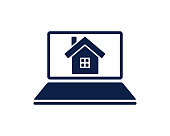 real estate website glyph icon