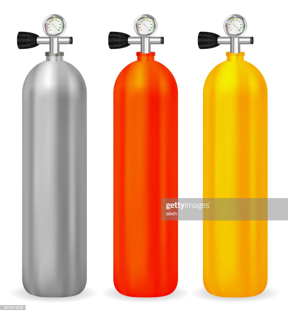 real gas tank with meter on white background