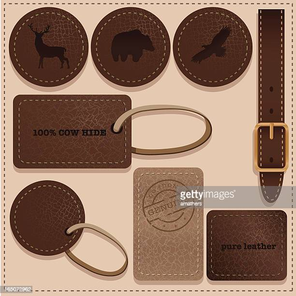 real leather - leather belt stock illustrations