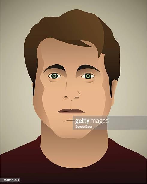 real man. - humourless stock illustrations, clip art, cartoons, & icons