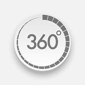 Realistic 360 Degrees Button for Web Design