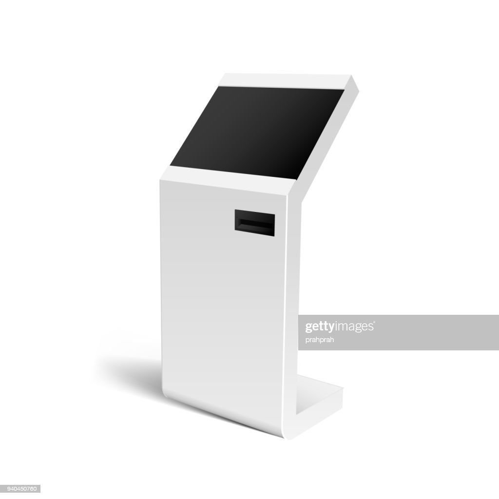Realistic 3D Payment Terminal, ATM, POS Mock Up