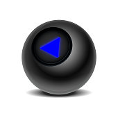 Realistic black Eight Ball of predictions