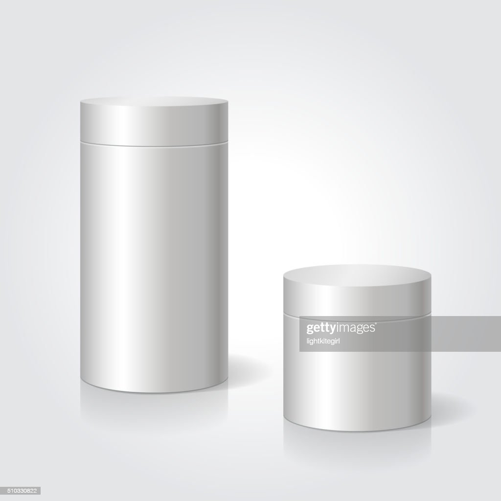 Realistic blank white package box mock up to advertise goods