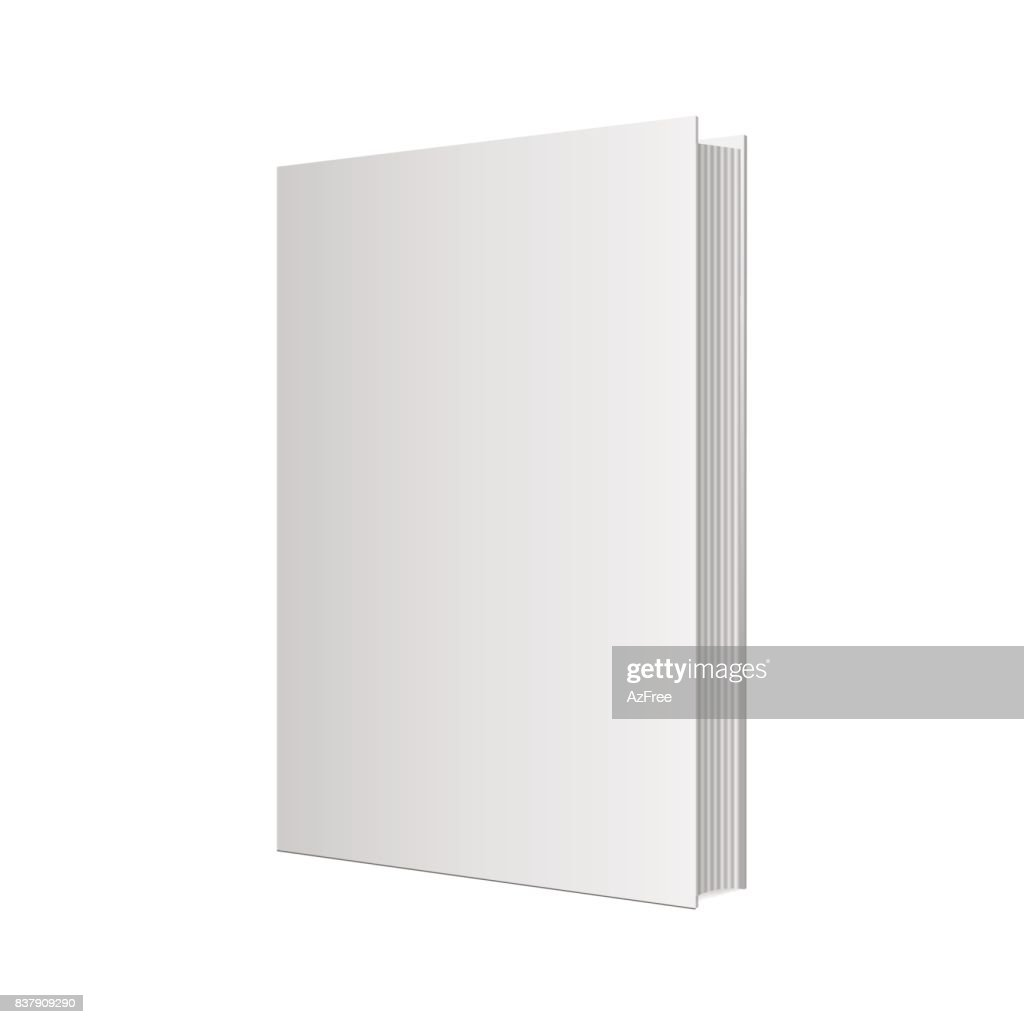 Realistic book mockup. Vector illustration.