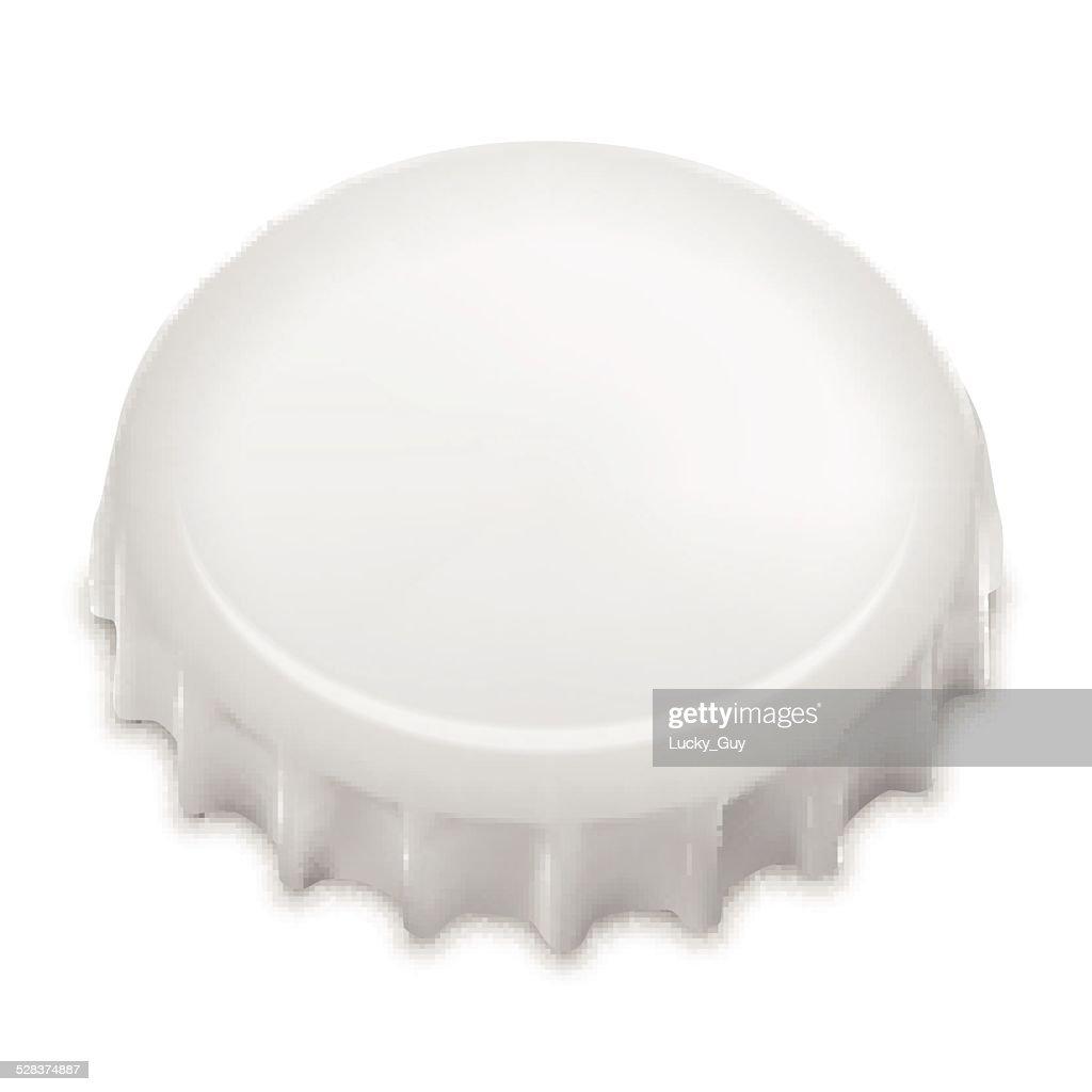 Realistic Bottle Cap On White. Vector