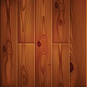Realistic brown wood boards texture