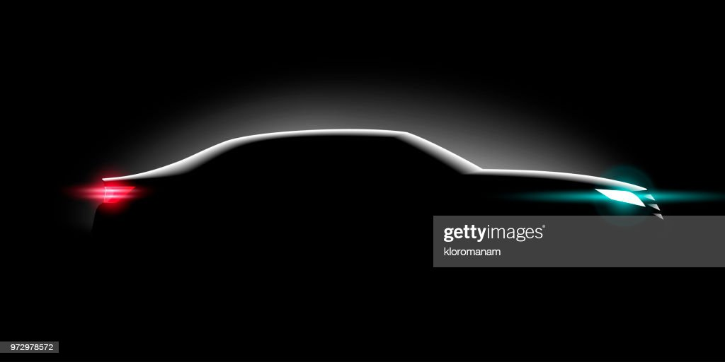 realistic business car in the dark and the light