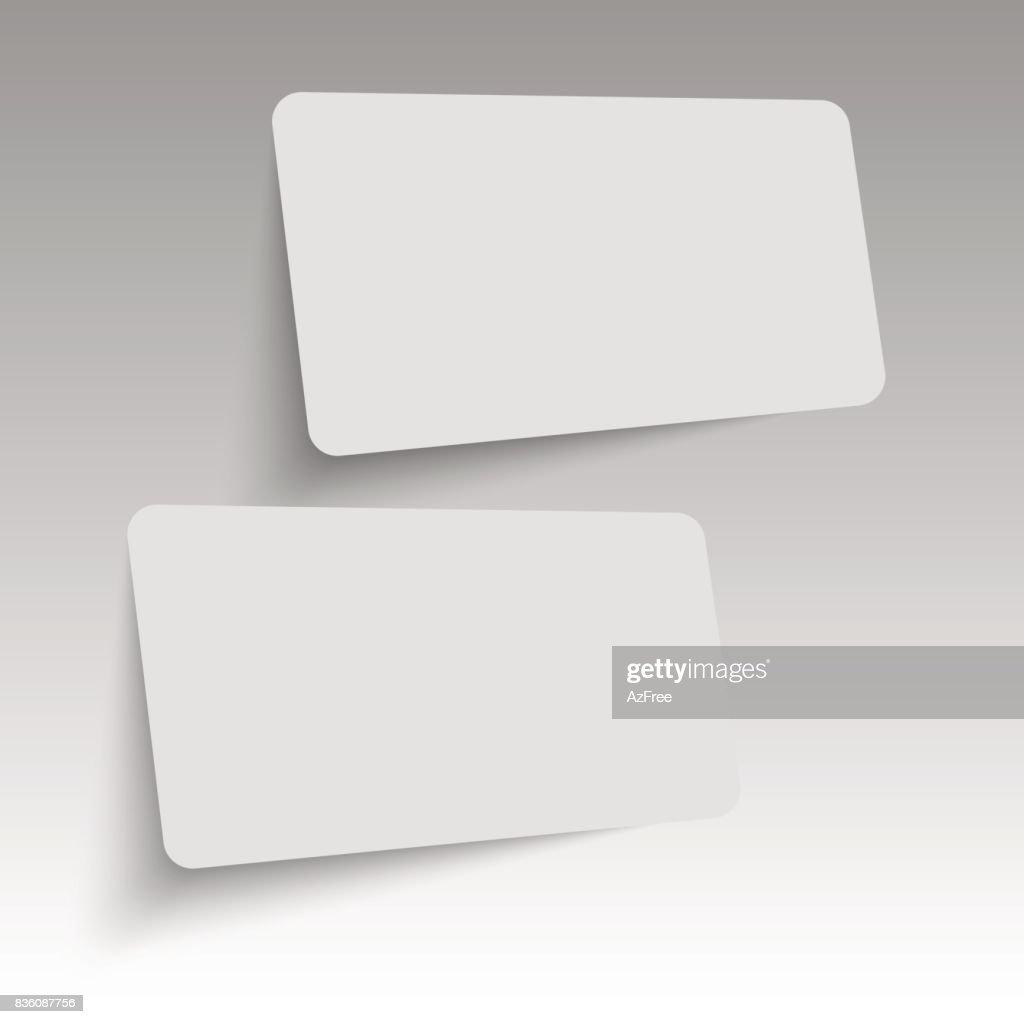 Realistische Visitenkarten Vorlage Vektor Vektorgrafik