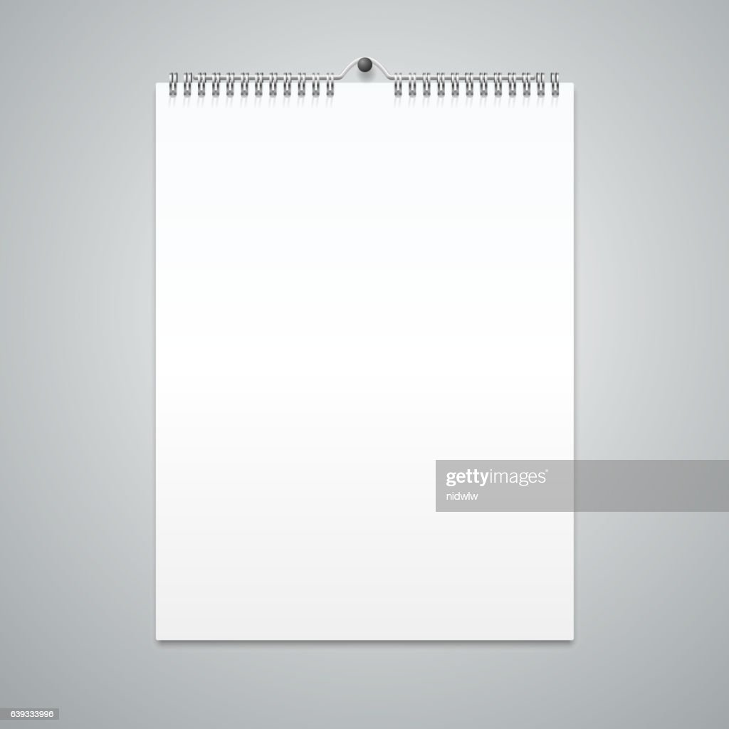 realistic calendar template blank vector ベクトルアート getty images