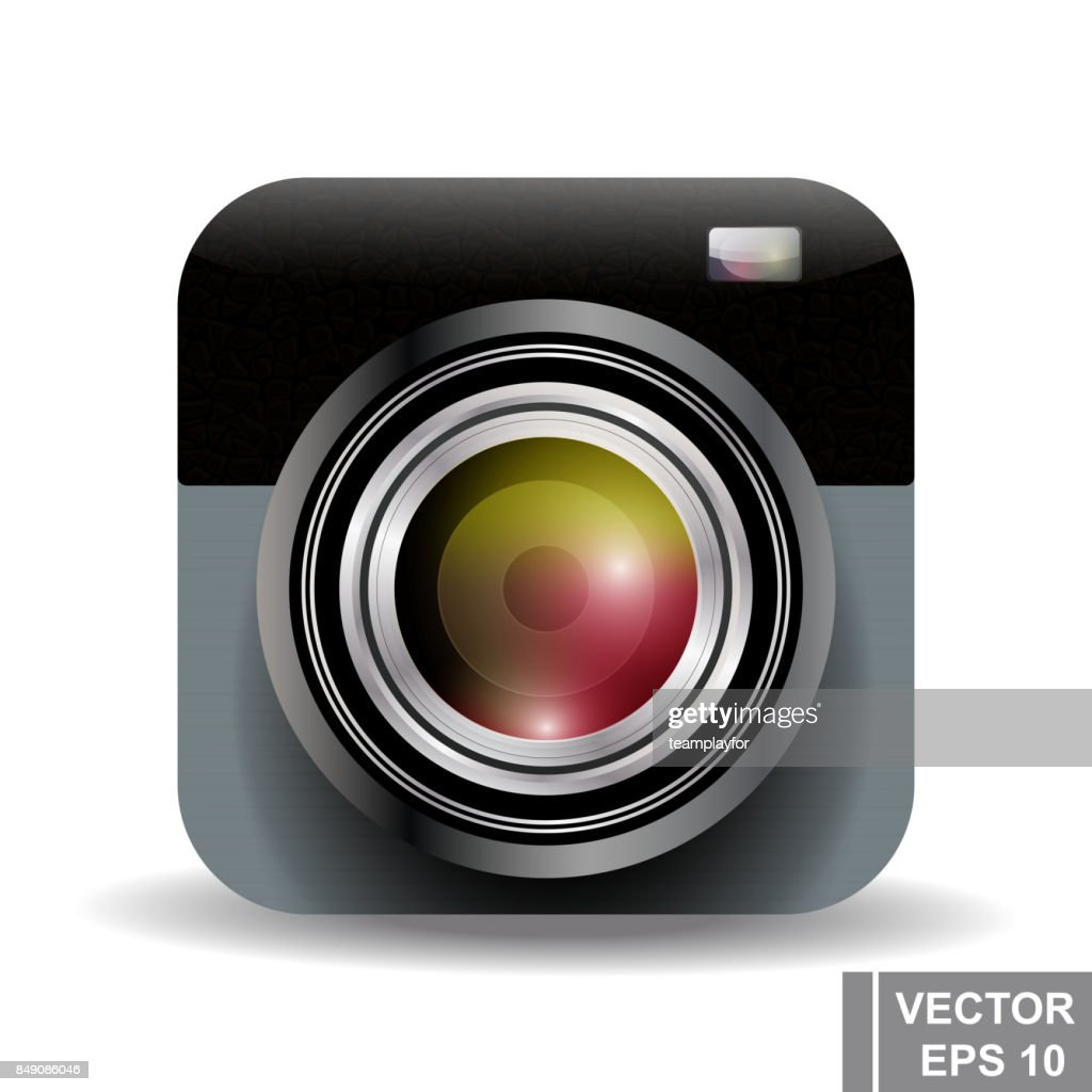 Realistic camera. Lens. Modern technologies. For your design.