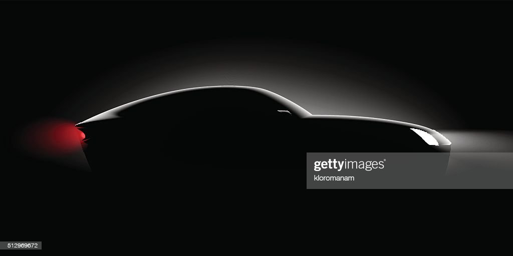 realistic car side view in the dark