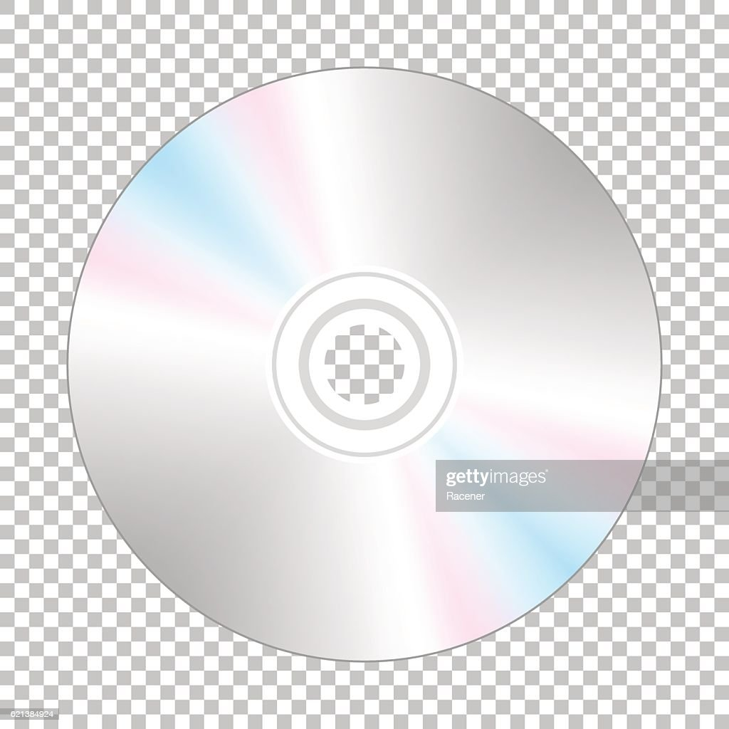 Realistic cd-disk backside.