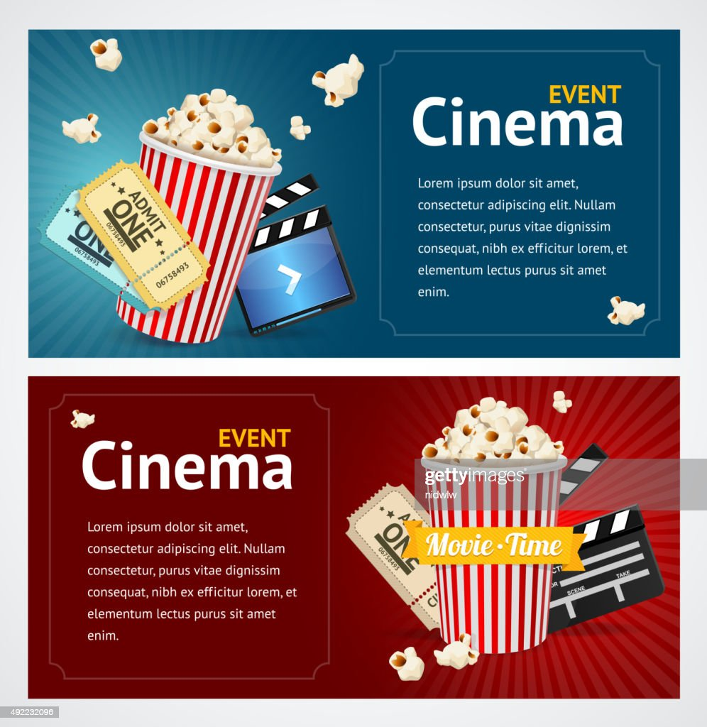 Realistic Cinema Movie Poster Template Vector Vector Art Getty Images