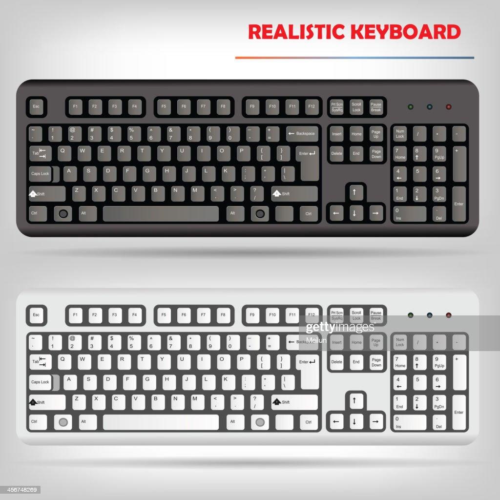 Realistic computer keyboard vector