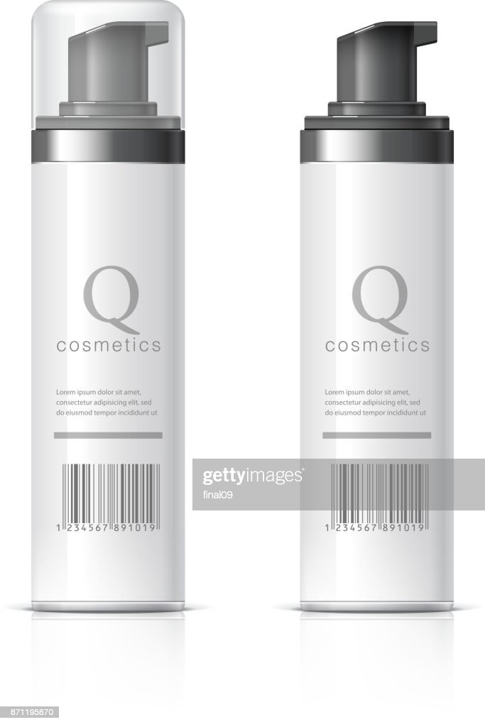 Realistic Cosmetics bottle can Spray