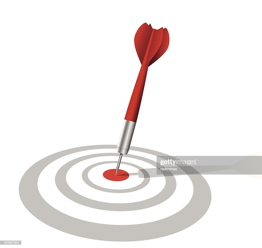 realistic darts target with shadow
