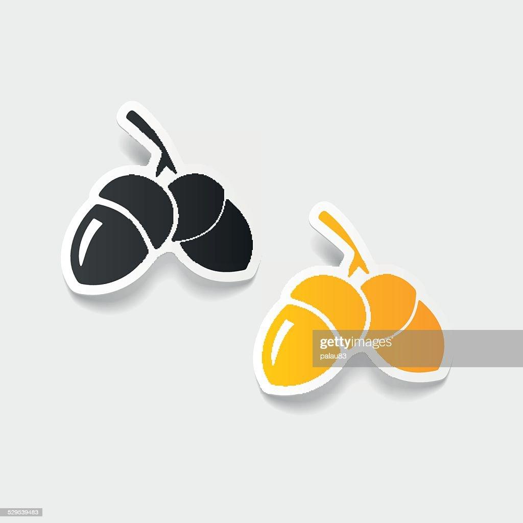 realistic design element: acorns
