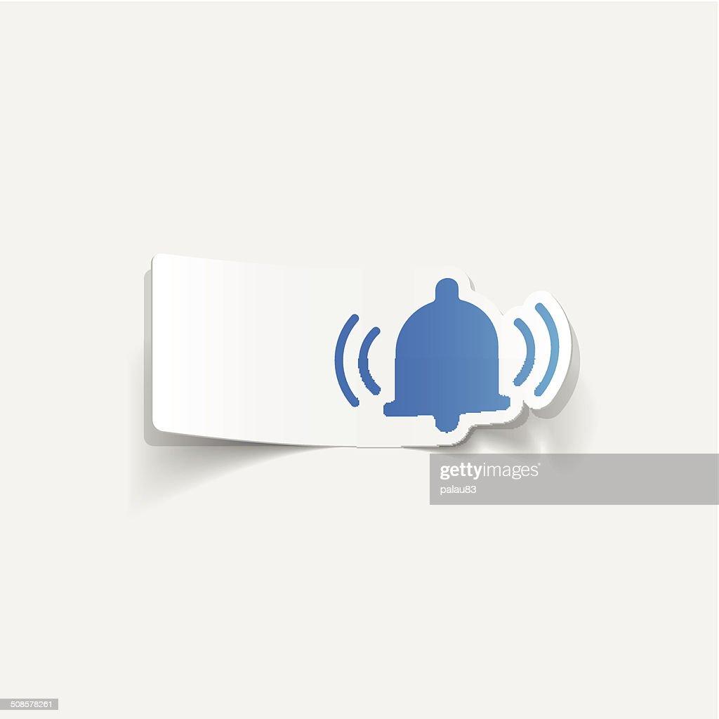 realistic design element: bell : Vector Art