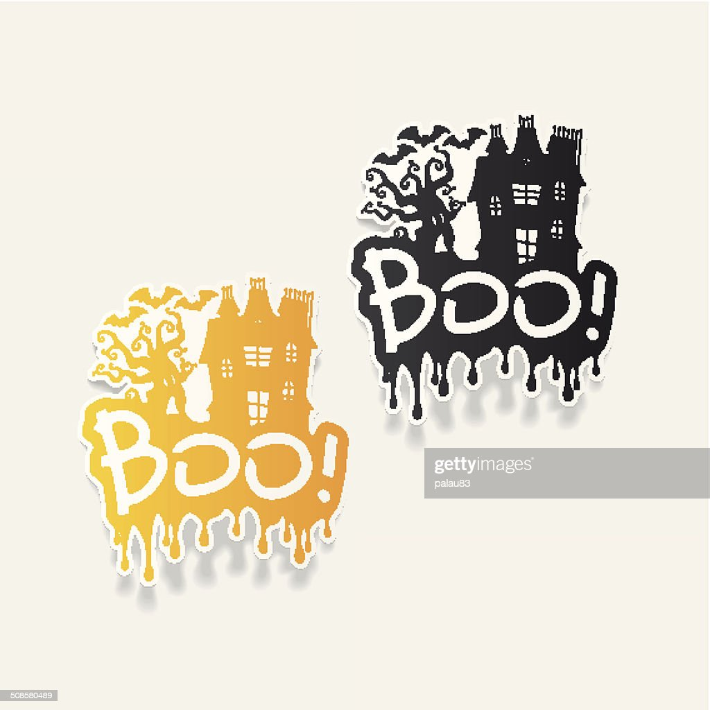 realistic design element: boo : Vectorkunst