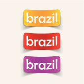 realistic design element: brazil
