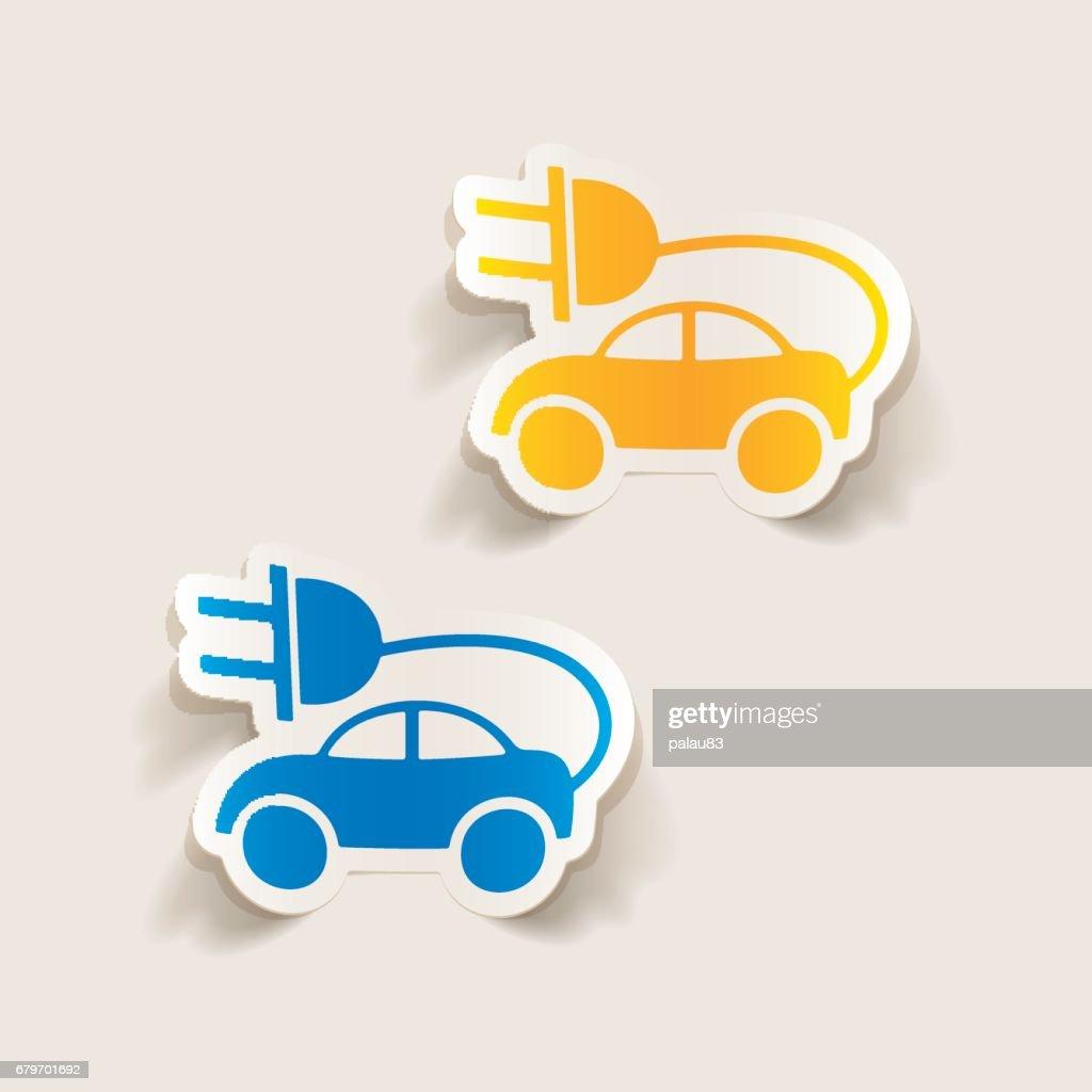 realistic design element: eco car