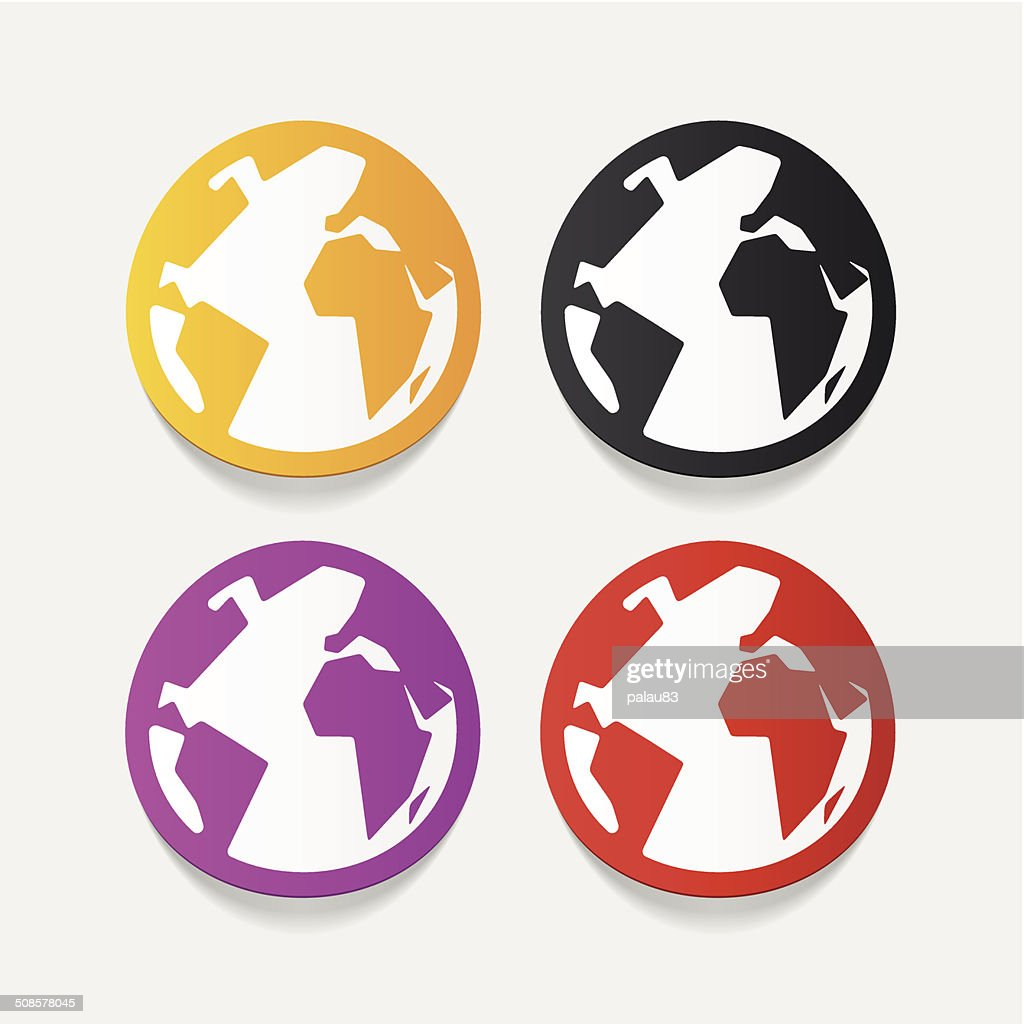 Realistische design-element: globe : Vektorgrafik