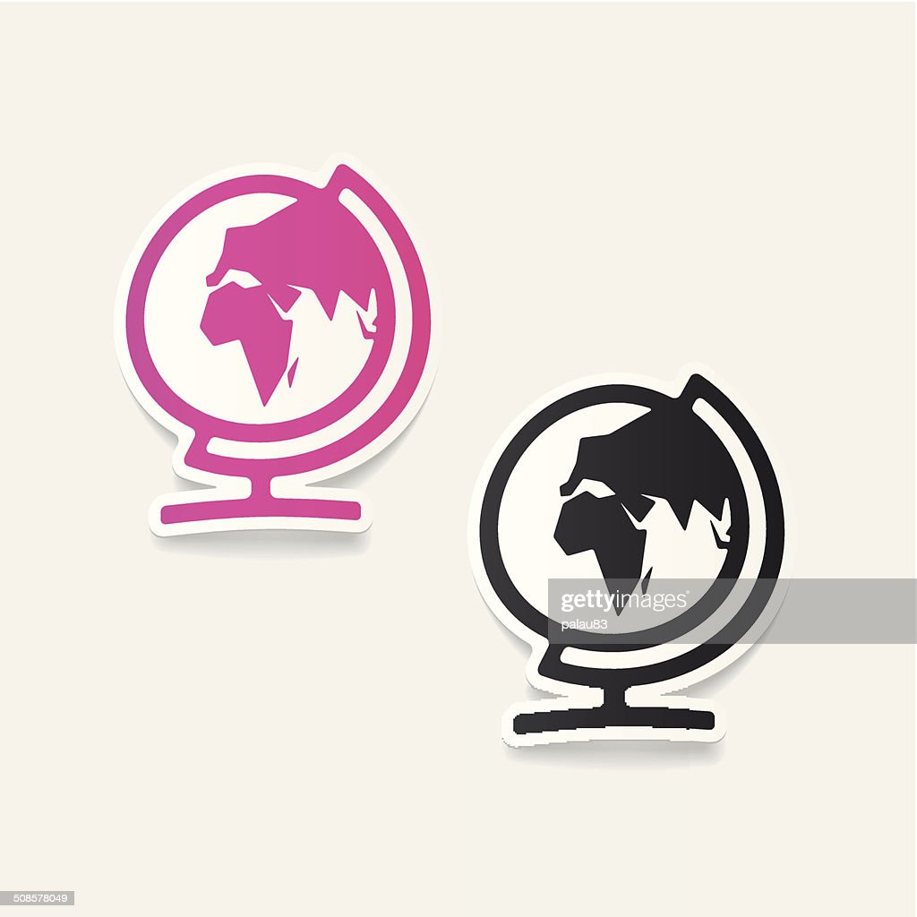 realistic design element: globe : Vectorkunst