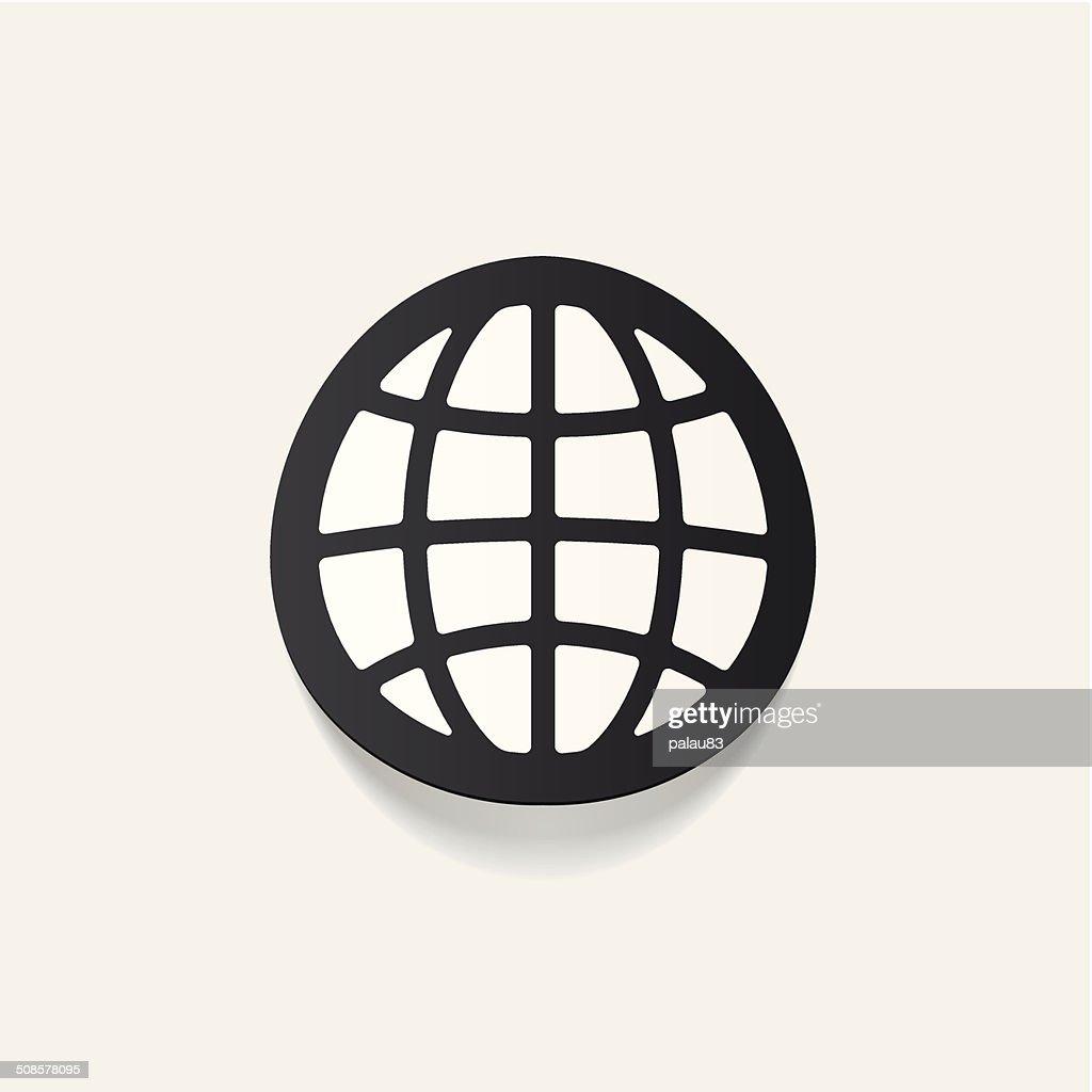 Realistico elemento di design: globe : Arte vettoriale