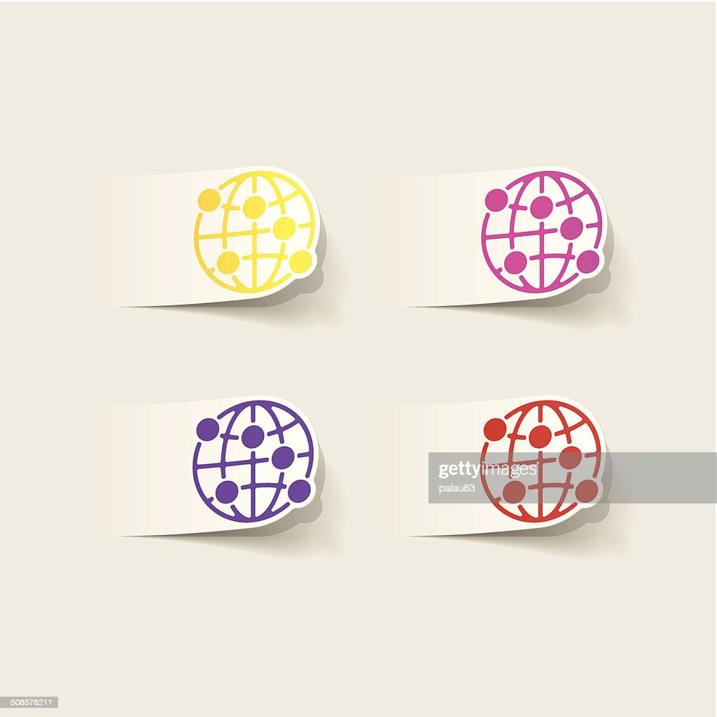 realistic design element: globe : Vector Art