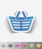 realistic design element. shopping cart