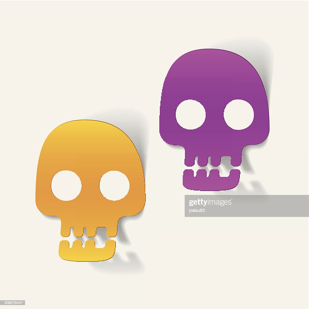 realistic design element: skull : Vectorkunst
