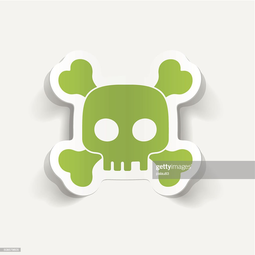realistic design element: skull : Vector Art