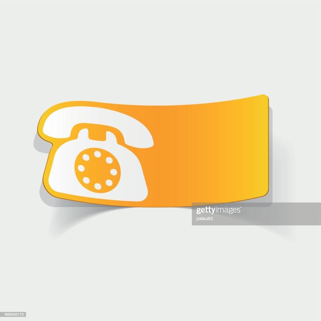 realistic design element: telephone