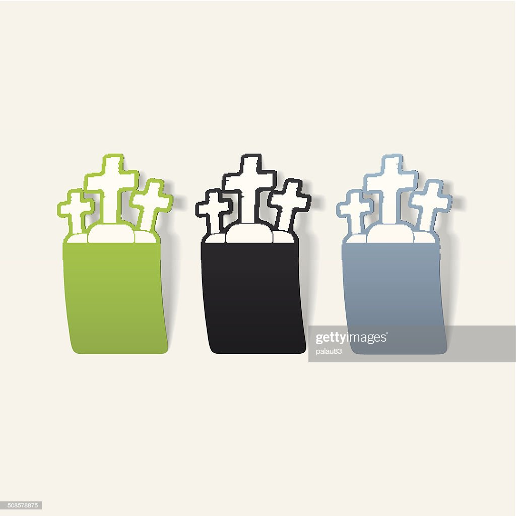 realistic design element: tombstone : Vector Art