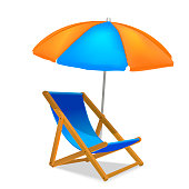 Realistic Detailed 3d Sun Bed Chair. Vector
