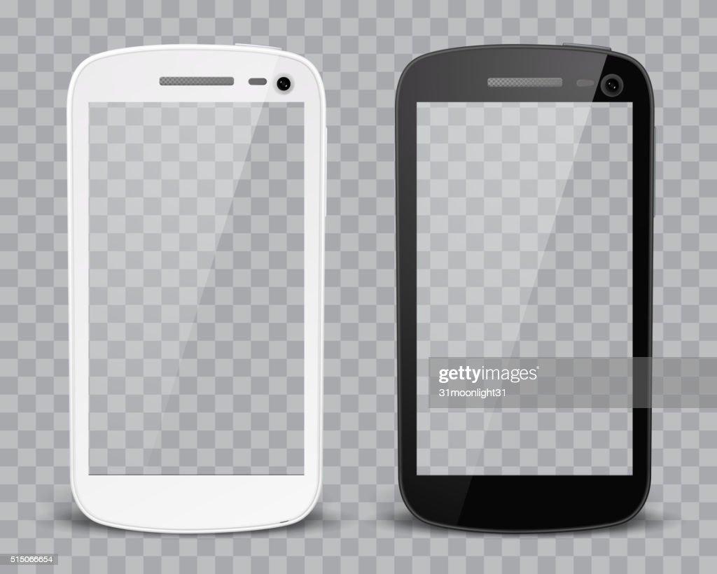Realistic detailed smartphones