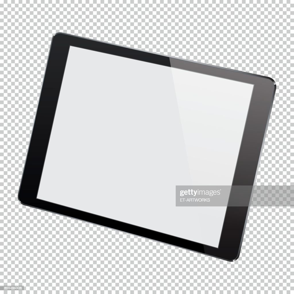 Realistic Digital Pc Tablet Vector Art | Getty Images