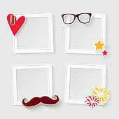 Realistic ?elebration photo frame