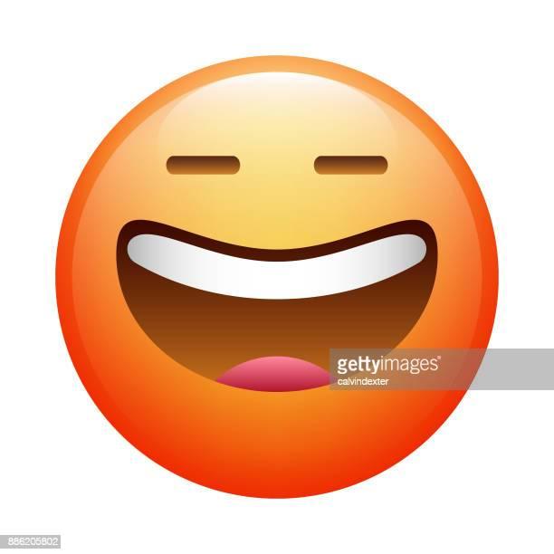 realistic emoji - smiling stock illustrations, clip art, cartoons, & icons