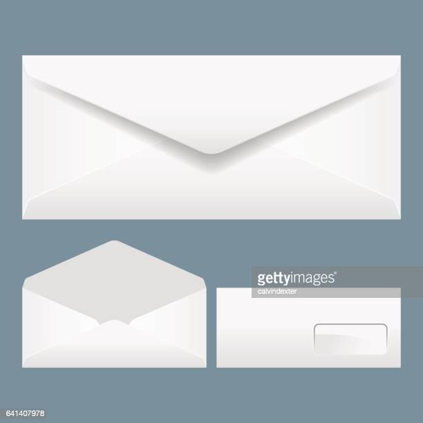 realistic envelopes - envelope stock illustrations, clip art, cartoons, & icons