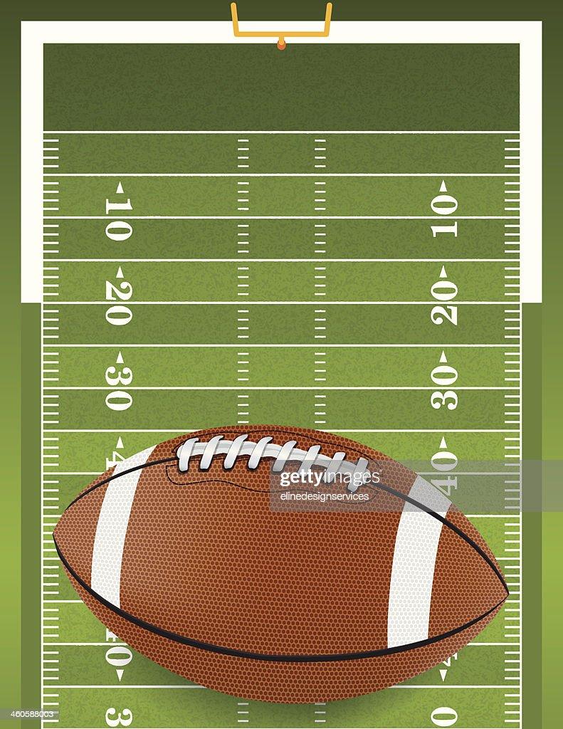 Realistic Football on Textured Field